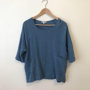 Tops - Flowy blue tunic